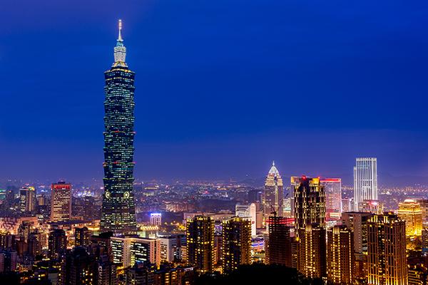 台湾-台北市内の夜景