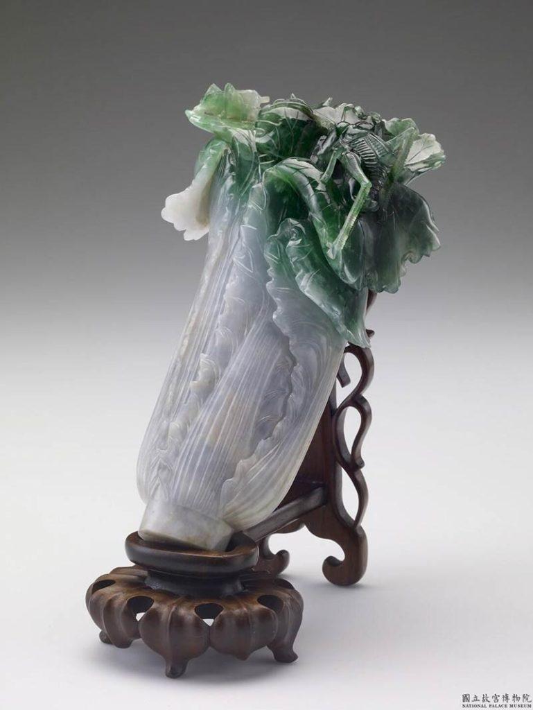 台北にある故宮博物院(北院)と交替で展示されるという「翠玉白菜」。ラッキーなら見られるかも。