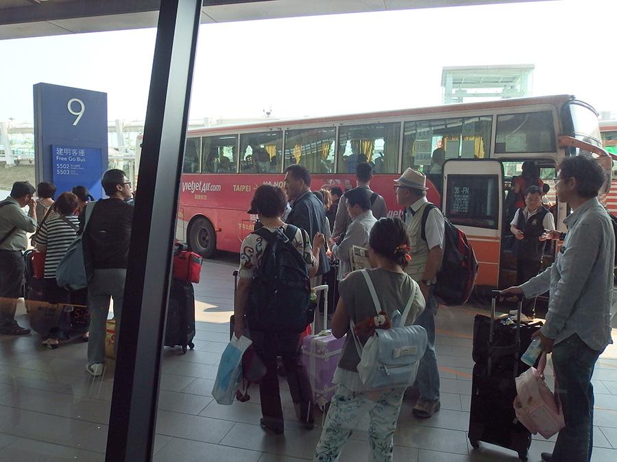 台湾の桃園空港から台北にバス移動する方法